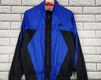 306fc37fe6b4 NIKE Colorblock Windbreaker Jacket Medium Vintage 90s Nike Swoosh  Windbreaker Sportswear Jacket Size M