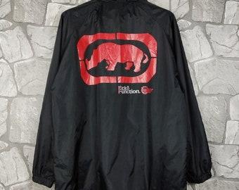 21b005e5a0bc6 Vintage ECKO Unltd Hip Hop Rap Sewn Swag Patch Windbreaker Jacket Size L