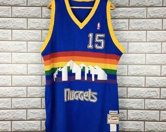 780d302a Denver Nuggets Jersey Vintage Carmelo Anthony #15 Nuggets Light Blue  Hardwood Classics Swingman Stitched NBA Jersey XL