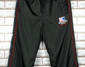 bbd396563f4bd KARL KANI Nylon Track Pants Large Vintage 1990s Karl Kani Black Nylon Track  Pants Size L W 31-36