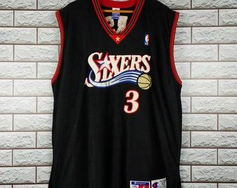 342e9447585 SIXERS Champion Jersey Men s 52 Vintage 90s Champion Nba Basketball  Philadelphia Sixers Allen Iverson  3 Jersey Size XXL