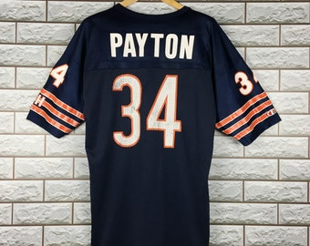6cfd741d48e CHICAGO BEAR Jersey 48 Vintage NFL Walter Payton #34 Gsh Chicago Bear  Champion American Football Jersey Shirt Size 48