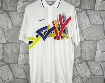 13c38cebeff5a3 Vintage 80s 90s Adidas Tennis Ivan Lendl Tennis T-Shirt Large