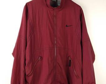 5e49bfd0af Vintage 90s Nike Swoosh Big Logo Streetwear Windbreaker Jacket Medium