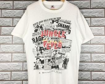 7358122f9af2a SPIKE LEE Jungle Fever Movie T-Shirt Large Vintage 1990s Spike Lee T-Shirt  Size L