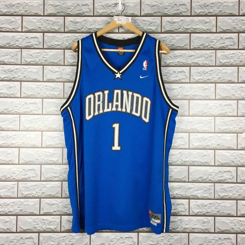 timeless design f0c9c f90c9 Vintage 90s Nike Orlando Magic McGrady 1 Nba Jersey Basketball Men's XXL