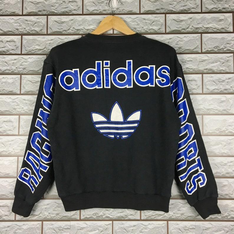 cfc22bd270ab8 ADIDAS Sweatshirt Small Medium Vintage 90s Adidas Racing Team Trefoil  Sweatshirt Jumper T-Shirt Size S - M