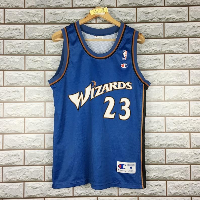 89e1cf3d4f27b Vintage 90s Champion Washington Wizards #23 Michael Jordan Nba Basketball  Jersey Men's M