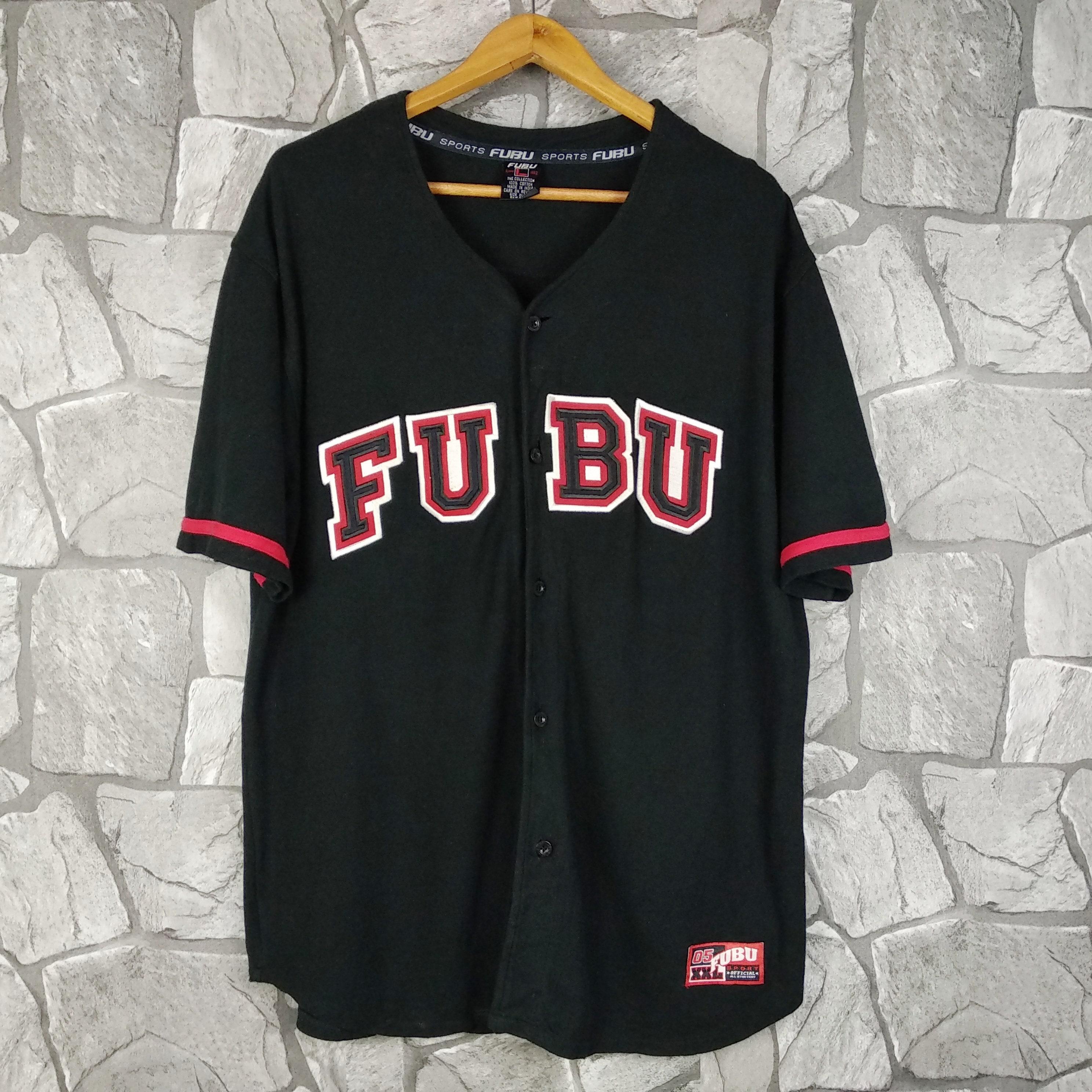 32e8d6458 Vintage FUBU Sports Baseball Jersey Hip Hop Rap Sewn Swag