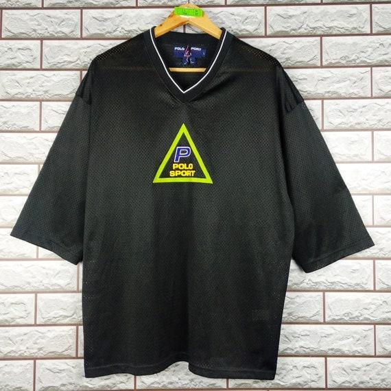 POLO SPORT Black Jersey Large Vintage 90s Polo Spo