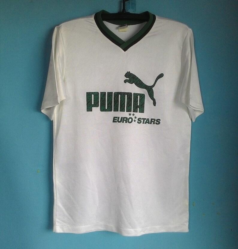 2c69de09bc0 Vintage Puma Euro Stars Jersey Football Sportswear T-Shirt | Etsy