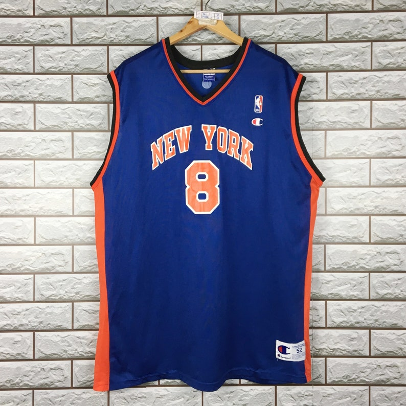 promo code d176f 27de1 NY KNICKS Jersey 2XL Vintage 90s Champion Latrell Sprewell New York Knicks  Jersey NBA Basketball Men's 52