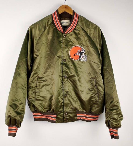 Football Américain Cleveland Browns Veste Bouton Vintage Cordeau Nfl wvOqHHZ