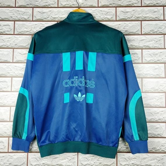 Vintage Adidas Track Top Jacket Big Logo Australia Sz M