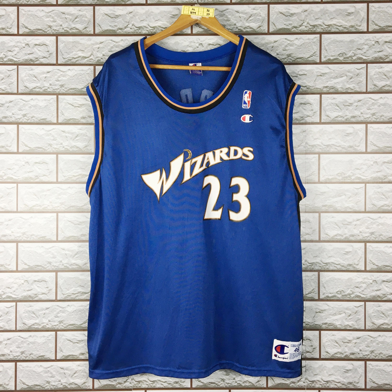 huge discount 0428c 9b70a WIZARDS Basketball Jersey X-Large Vintage 90s Champion Washington Wizards  #23 Michael Jordan Nba Jersey Men's 48
