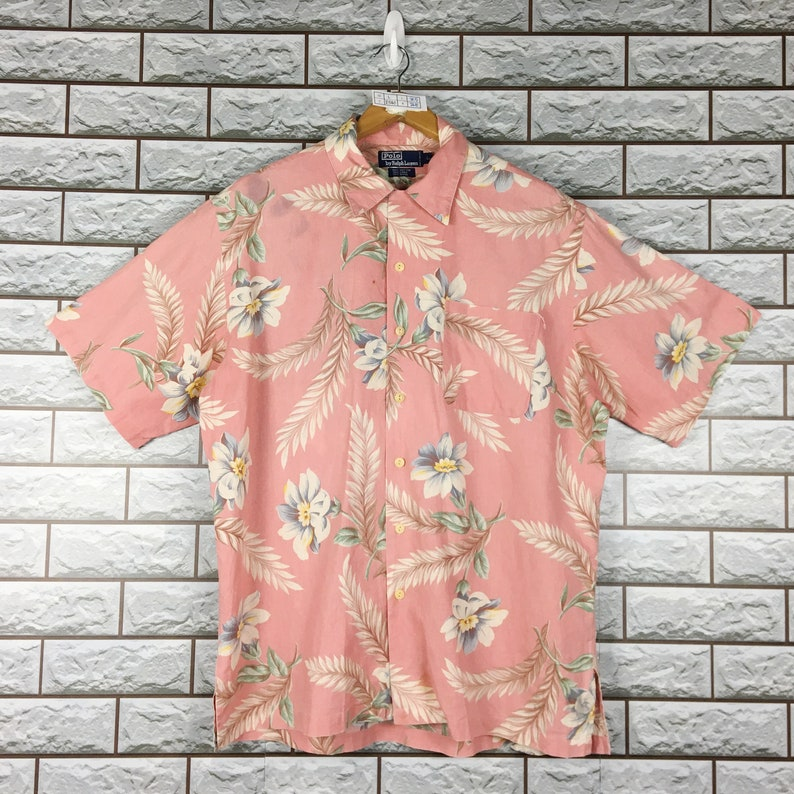 Hawaii Linen Large Flannel Polo Vintage Western Shirt Buttondown Lauren 90s Oxfords Ralph Size L 4AR5j3L