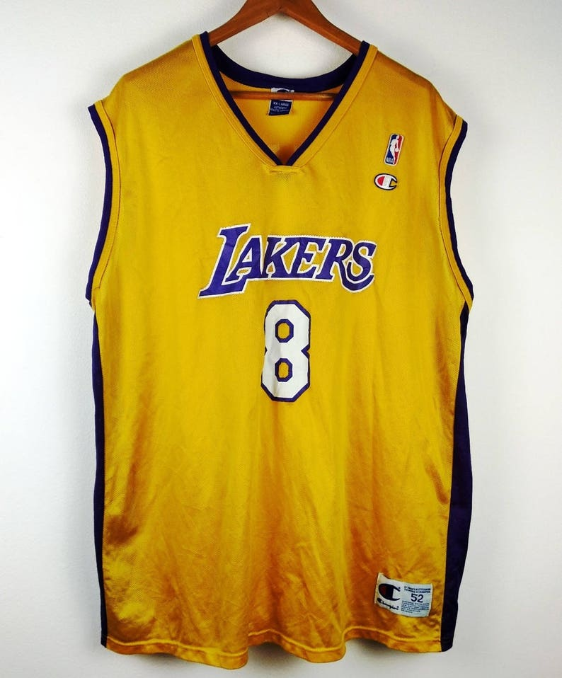 fca6e1cc6e3 Vintage 90s Champion Kobe Bryant Los Angeles Lakers 8 Jersey