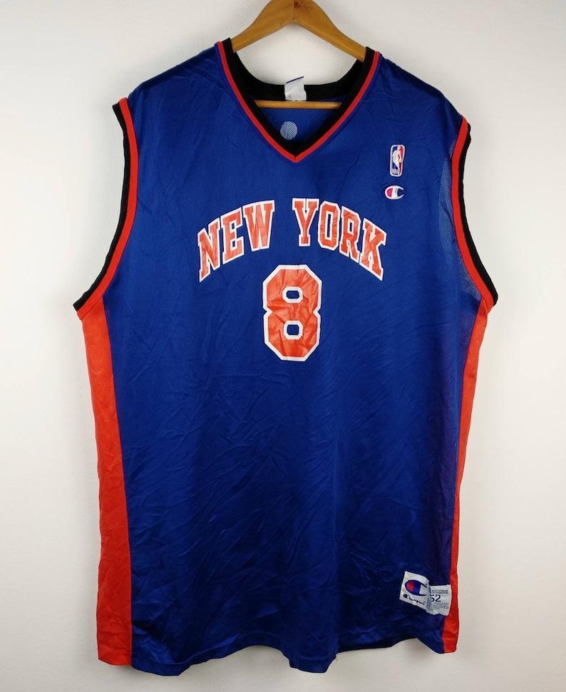 b2ee203c2c2 Vintage 90s Champion Latrell Sprewell New York KNICKS Jersey