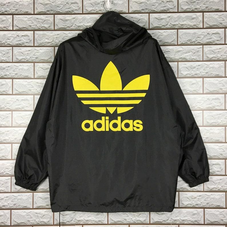 617cb5ce3 Vintage 90s Adidas Trefoil Big Logo Streetwear Hoodie | Etsy