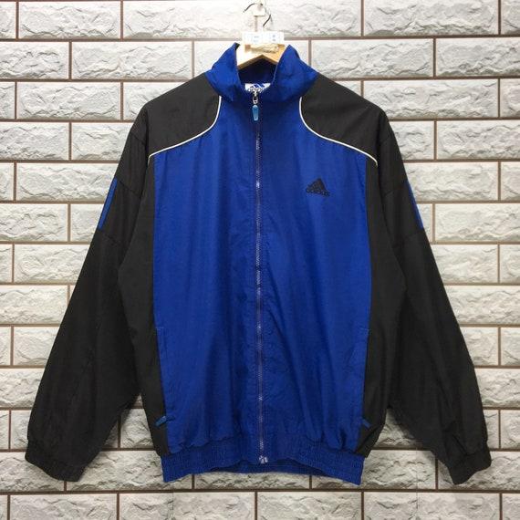 ADIDAS Windbreaker Jacke Medium Vintage 90er Jahre Adidas Ausrüstung Reißverschluss Hoodie Jacke Größe M L