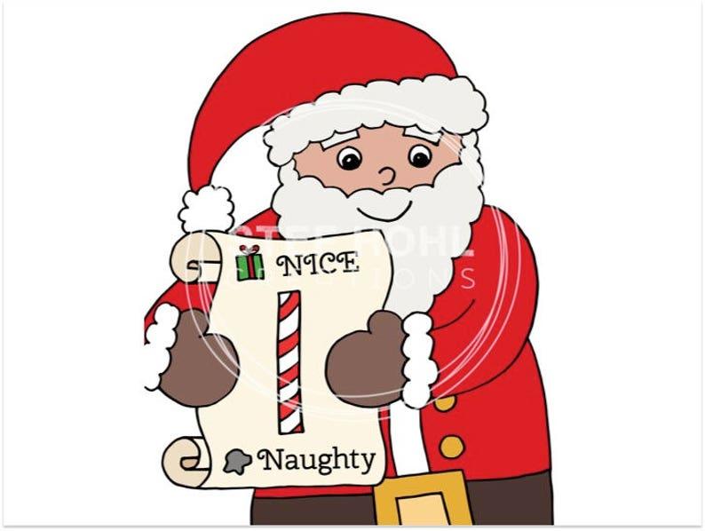 Christmas Naughty Or Nice Chart.Naughty Or Nice Santa Behavior Chart Printable Jpeg Instant Download