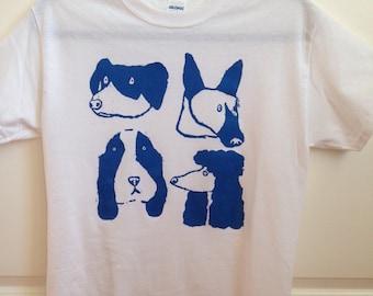 "Hand screenprinted T-shirt ""Dog Days"""