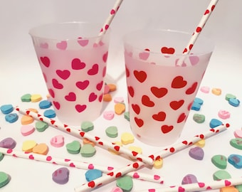 Hearts Cups And Straws