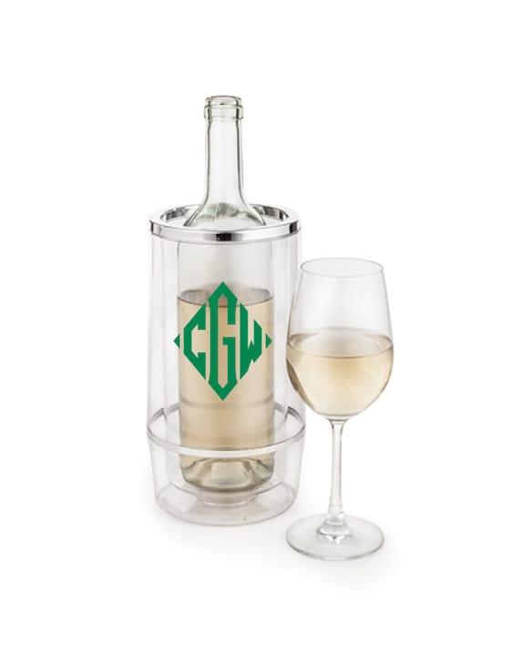 Personalized Bottle Cooler Wine Chiller Monogrammed Wine ...