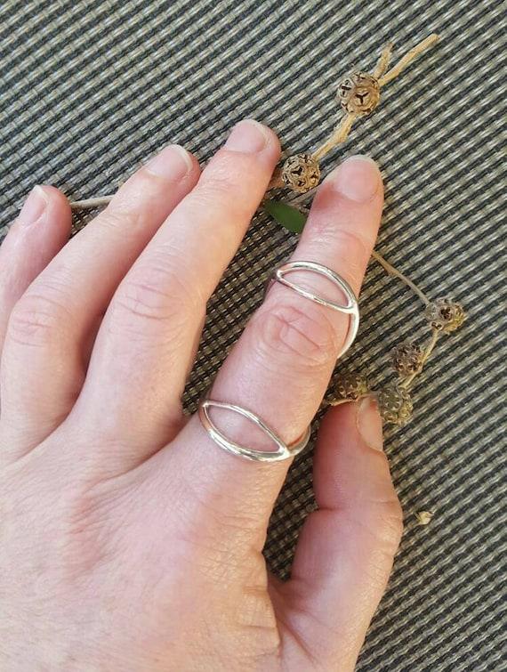 EDS hypermobility SWAN NECK sterling silver ring splint