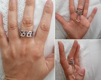 Trigger finger adjustable silver ring splint