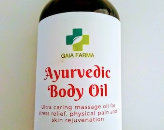 Ayurvedic body oil for pain relief and skin rejuvenation