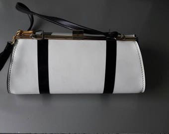 Black and White Vintage Handbag Clutch