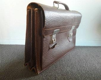 Vintage Leather Messengers Bag, Sachel '70