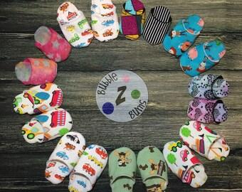 Custom Baby 'Z Slippers, Baby Slippers, Custom Slippers, Infant House Shoes