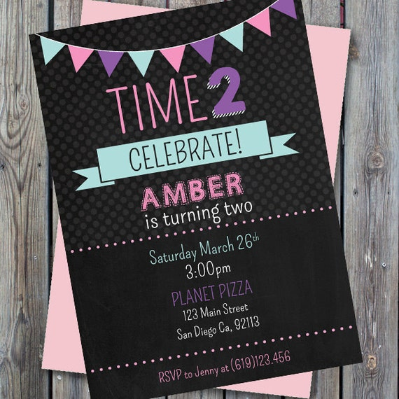 Printable Second Birthday Invitation Girl