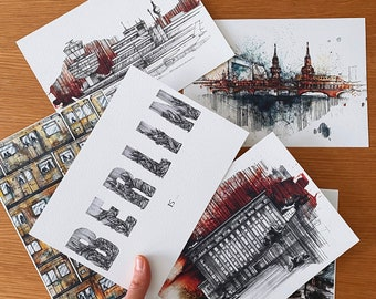 Berlin Is ...  A5 postcard set.