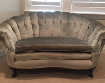 Antique Tufted Settee