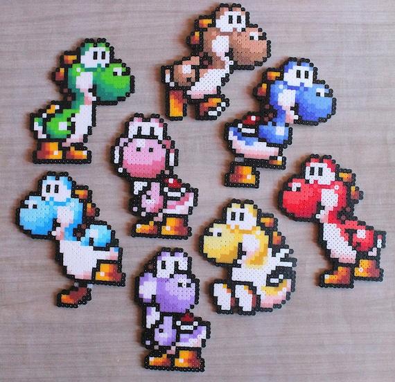 Yoshi Sprite - Yoshi's Island - Gifts for him - Nintendo accesories - Hama  Beads - Perler beads - Pixel - Yoshi Perler - 8bit Yoshi - Cute