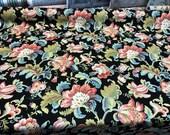Vergili Blackbird Black Floral Linen Mill Creek Swavelle Fabric By The Yard