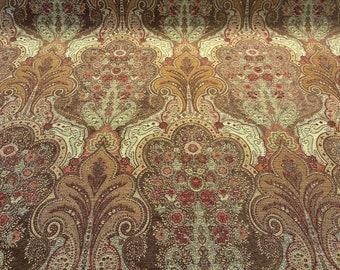Price per 12 metre Brown Damask 100/% Cotton Fabric 867