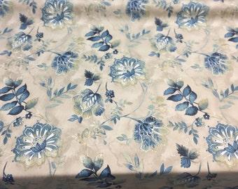 kelly Ripa Light Hearted Indigo Drapery fabric By the yard Multipurpose