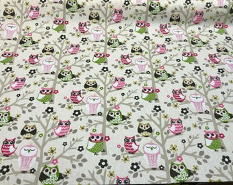 Waverly 45'' Sit'n A Tree Fruit Punch Owls Fabric By The Yard