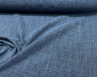 Bali Blue Valley Forge Linen Upholstery Fabric By The Yard