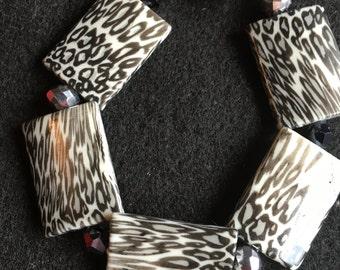 Animal Print Handmade Bracelet