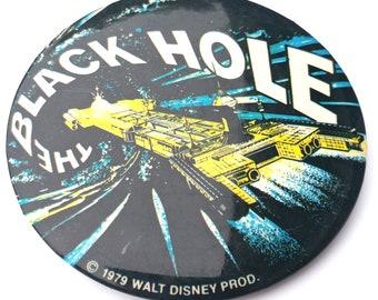 "Button Pin Badge 1.5/"" Fun Space BLACK HOLES SUCK"