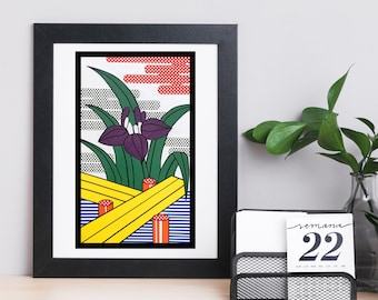 Japanese art prints, pop art, flowers, animals, botanical art, retro, traditional, playing card, Hanafuda