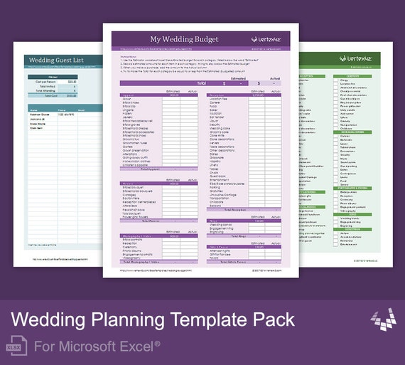 Wedding Planning Template Pack For Excel