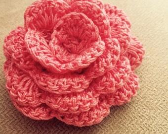 Crochet Rose Pattern - Crochet Pattern for hair bands and Home Decoration - Crochet Flower Pattern - PDF Pattern