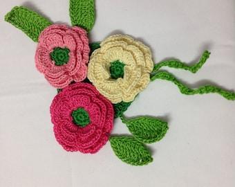 PDF Flower Clip PATTERN - Crochet Flower Pattern - Flower Tutorial - Crochet Pattern -by Neelam