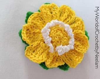 Crochet flower pattern, flowers and leaves crochet pattern, applique flowers, pattern 40
